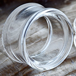 Pyrex glass septum eyelet