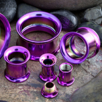 Titanium plated internally threaded eyelet (Light purple)