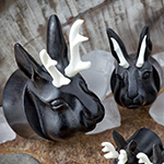 Arang wood jackalope plugs