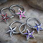 Steel nautical star captive
