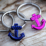 Steel anchor captive