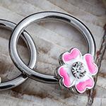 Steel pink flower captive