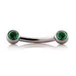 PRE-ORDER Titanium threadless side-gem curved barbell