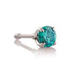 PRE-ORDER Titanium threadless prong-set faceted gem end