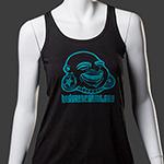 BAF girl tank top (Teal on black)