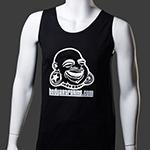 BAF guys tank top (White on black)
