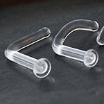 PRE-ORDER Quartz glass nostril retainer