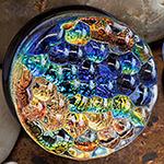 PRE-ORDER Dichroic foil bubble textured pyrex plug