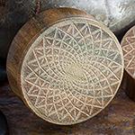 Laser etched verawood plugs (Lotus)