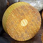 Laser etched osage orange plugs (Mandala)
