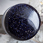 Single flare blue goldstone plugs