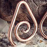 Solid copper Teardrop Spirals