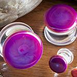 Double flare merlot colorfront pyrex plug