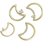 PRE-ORDER 14k gold LunEAR seamless ring