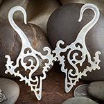 Mother of pearl scythe design