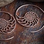 14K rose gold plated nautilus design