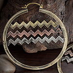 Brass and copper Yorba hoops