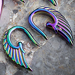 Color-coated angel wings design (Rainbow)