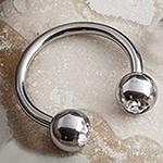 Circular barbell with gem balls