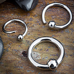 Steel fixed bead ring