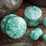 China green jade plugs