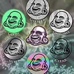 BAF round sticker