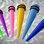 Neon acrylic taper