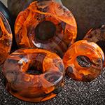 Glass Power Eye eyelets (Orange/brown)