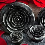 Arang wood rosebud plugs