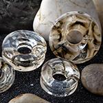 Glass Power Eye eyelets (Bronze/ivory)