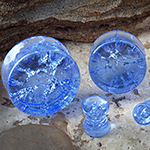 Crackle rock plugs (Light Blue)