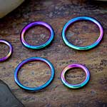 Color plated segment ring