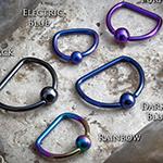 Niobium D-ring with titanium bead