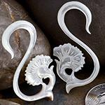 White shell flourish design