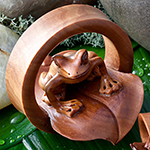 Sabo wood Le Frog eyelets