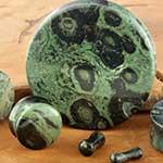 Green eye jasper stone plug