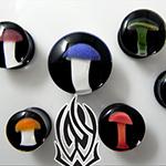 PRE-ORDER mushroom pyrex ball plug