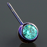PRE-ORDER Titanium side-gem threadless ball