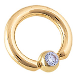 PRE-ORDER 14k yellow gold captive with gem bead