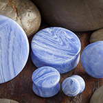 Synthetic blue lace agate stone plugs