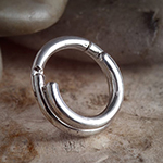 14k white gold double trouble clicker