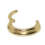 PRE-ORDER 14k yellow gold double trouble clicker