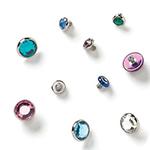 PRE-ORDER Flatback faceted gem threaded end
