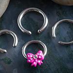 Pink polka dot bow captive pack