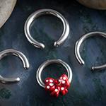 Red polka dot bow captive pack