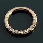 PRE-ORDER 14k rose gold forward facing gemmed clicker