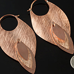 Solid copper Moving hoops
