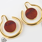 22K gold plated Eye of the Beholder with mookaite