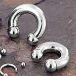 Economy internally threaded circular barbell