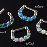 Synthetic opal septum clicker